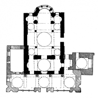 Церковь Феодора (Килиссе-Джами) в Константинополе. 2-я половина 11 века. План