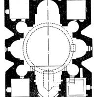 Ереруйкская базилика. 5 век. План