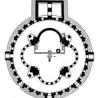 Звартноц. Середина 7 века. План