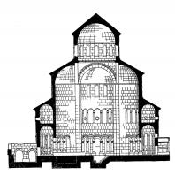 Звартноц. Середина 7 века. Разрез