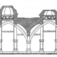 Монастырь Ахпат. Трапезная. 13 век. Продольный разрез