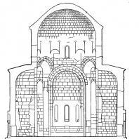 Мцхетский Джвари. 590-604 гг. Поперечный разрез