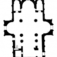 Храм Баграта в Кутаиси. 1003 г. План