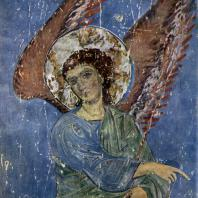 Ангел. Фрагмент фрески храма Кинцвиси. Конец 12 - начало 13 вв.