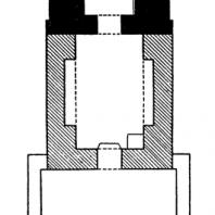 Церковь св. Пантелеймона в Бояне. Восточная часть - 11-12 вв., средняя часть - 1259 г., западная часть - конца 19 в. План
