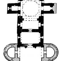 Церковь Успения Богоматери Студеницкого монастыря. 1190 г. План