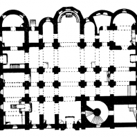 Храм св. Софии в Новгороде. 1045-1050 гг. План