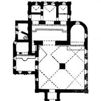 Церковь Рождества в Путниках в Москве. 1649-1652 гг. План
