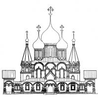 Церковь Иоанна Златоуста в Коровниках в Ярославле. Западный фасад