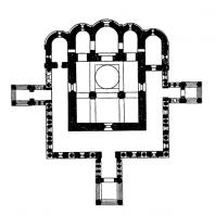 Церковь Иоанна Златоуста в Коровниках в Ярославле. 1649-1654 гг. План