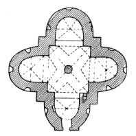 Покровская церковь в селе Сутковицы на Подолии. Начало 16 века. План