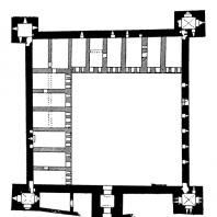 Замок в Мире. Начало 16 века. План