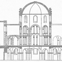 Аахенская Палатинская капелла Карла Великого. 795 - 805 гг. Разрез