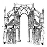 Поперечный разрез готического собора (собор в Амьене)