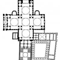 Церковь Сен Фрон в Перигё. 1120 - 1179 гг. План