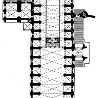 Собор в Альби. Заложен в 1282 г.; строительство завершено в основном в 14 в. План