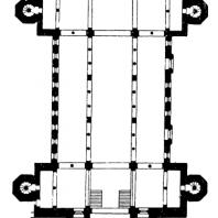Церковь св. Михаила в Гильдесгейме. 1010-1033 гг. План