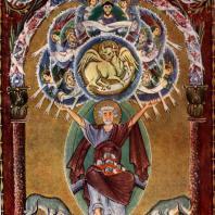 Евангелист Лука. Миниатюра Евангелия Оттона III. Около 1000 г. Мюнхен, Государственная библиотека