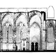 Собор св. Стефана в Вене. Продольный разрез