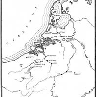 Карта Нидерландов в Средние века