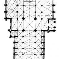 Собор св. Гудулы в Брюсселе. 1220 г. - 15 в., основное строительство - в 14 в. План