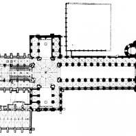 Собор в Или. 2-я половина 12 века. План