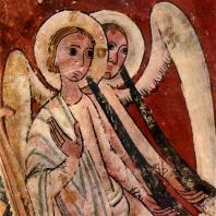 Ангелы Страшного суда. Фрагмент фрески из церкви Сан Пабло в Касересе. Около 1200 г. Сольсона, Археологический музей