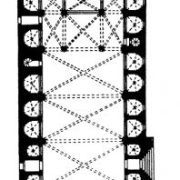 Собор в Хероне. 14 век. План