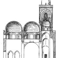Церковь Сан Джованни дельи. Эремити в Палермо. Продольный разрез
