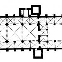 Церковь Сант Амброджо в Милане. 10-12 вв. План