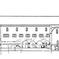 Храм св. Иржи в Праге. Продольный разрез