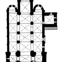 Собор в Яке. Начат в 20-х гг. 13 в., освящен в 1256 г. План