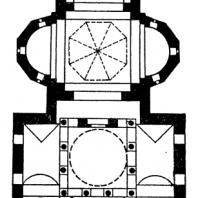 Епископская церковь в Куртя-де-Арджеше. 1512-1517 гг. План