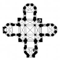 Церковь Марии в Калунборге. Конец 12 века. План