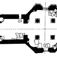 Церковь св. Духа в Висби. Около 1255 г. План