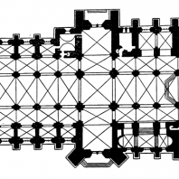 Собор в Упсале. Основное строительство в 13 - середине 15 века. План