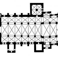 Собор в Турку. Основное строительство в 13-14 вв. План (до 1370 г.)
