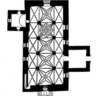 Церковь в Тенала. 14-15 вв. План