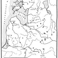 Карта Латвии, Литвы, Эстонии в Средние века
