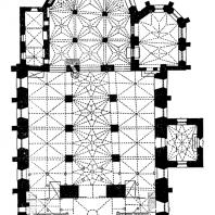 Церковь Олевисте в Таллине. Основное строительство в 13 в., башня западного фасада - 15 - начало 16 в. План
