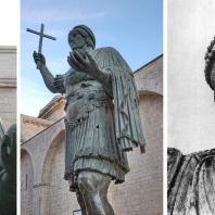 Колоссальная статуя императора из Барлетты. Фрагмент. Бронза. 2-я половина 4 века.