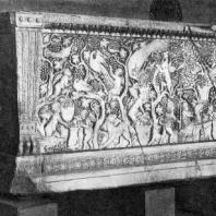 Саркофаг с изображением сбора винограда. 4 век. Рим, базилика Сан Лоренцо фуори ле мура