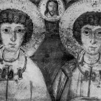 Св. Сергий и св. Вакх. Икона 6 век. Фрагмент. Киев, Музей западного и восточного искусства