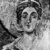 Архангел Гавриил. Мозаика вимы храма св. Софии в Константинополе. Фрагмент. Середина 9 век