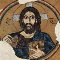 Христос Пантократор. Мозаика купола монастыря Дафни близ Афин. Фрагмент. 2-я половина 11 века