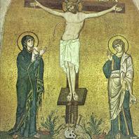 Распятие. Мозаика церкви монастыря Дафни близ Афин. 2-я половина 11 века