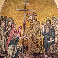 Сошествие во ад. Мозаика церкви монастыря Дафни близ Афин. 2-я половина 11 века