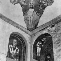 Церковь монастыря Дафни близ Афин. Часть интерьера с мозаиками. 2-я половина 11 века