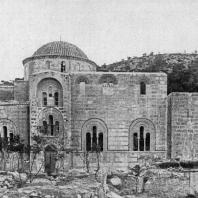 Церковь монастыря Дафни близ Афин. 2-я половина 11 века. Вид с севера