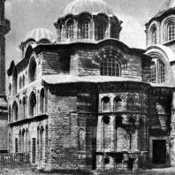 Церковь Паммакариста (Фетие-Джами) в Константинополе. 2-я половина 13 - начало 14 века. Вид с юго-востока